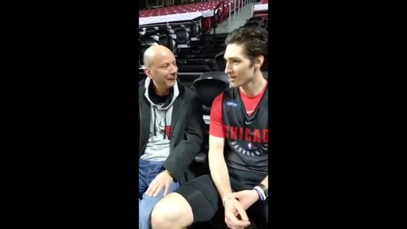 Facebook Live with Chuck Swirsky and Ryan Arcidiacono