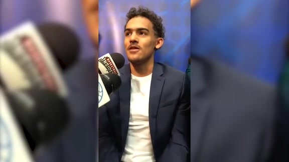 Live with Trae Young at the NBA Draft Combine