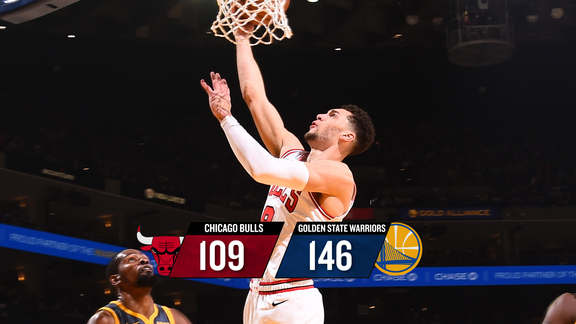 BullsTV Recap: Bulls 109, Warriors 146 - 1.11.19