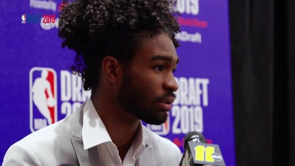 2019 NBA Draft: Coby White speaks to the media