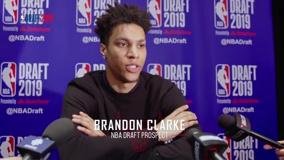 2019 NBA Draft: Brandon Clarke speaks to the media