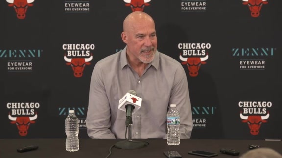 Paxson meets with the media following the 2019 NBA Draft