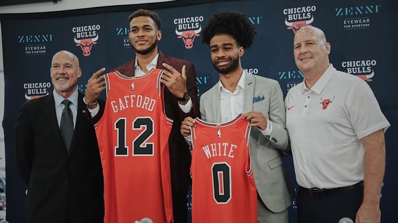Bulls introduce Coby White and Daniel Gafford