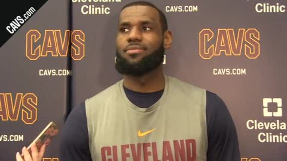 #CavsWarriors Shootaround: LeBron James - January 15, 2018