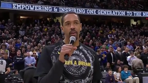 Channing Frye Addresses the Crowd on MLK Day