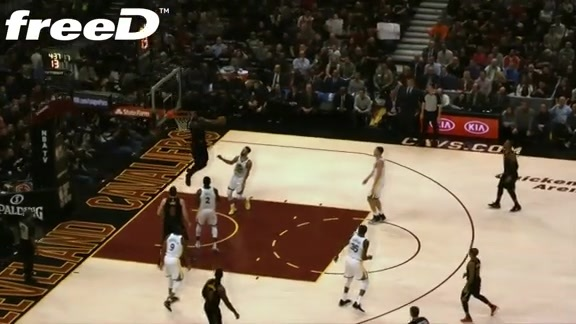 Highlight in freeD: LBJ Hammers Second Oop