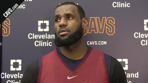 Practice: LeBron James - January 17, 2018