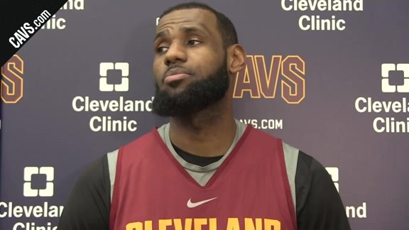#CavsMagic Shootaround: LeBron James - January 18, 2018
