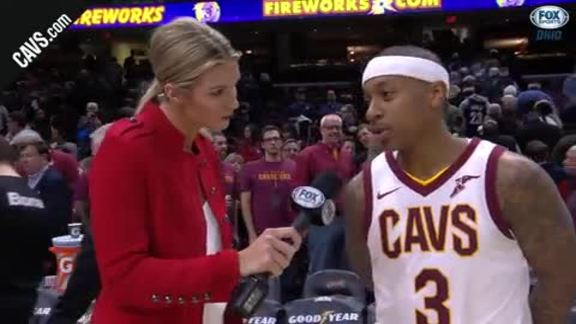 #CavsMagic On-Court Postgame: Isaiah Thomas - January 18, 2018