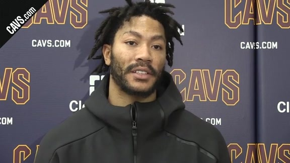 #CavsThunder Practice: Derrick Rose - January 19, 2018
