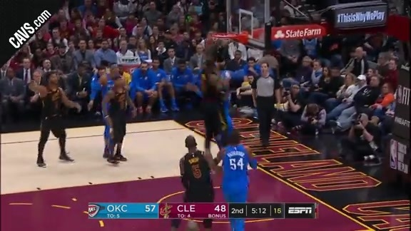 LBJ Hustles Over for the Block