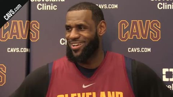 Practice: LeBron James – January 22, 2018
