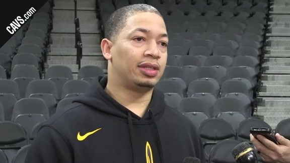 #CavsSpurs Shootaround: Coach Lue - January 23, 2018