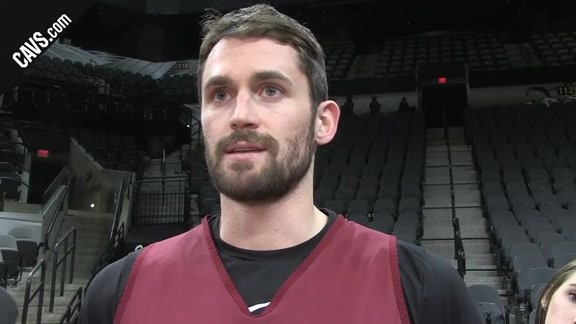 #CavsSpurs Shootaround: Kevin Love - January 23, 2018