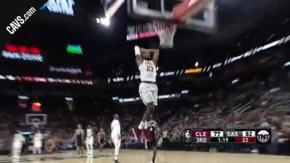 LBJ Soars for the Breakaway Slam