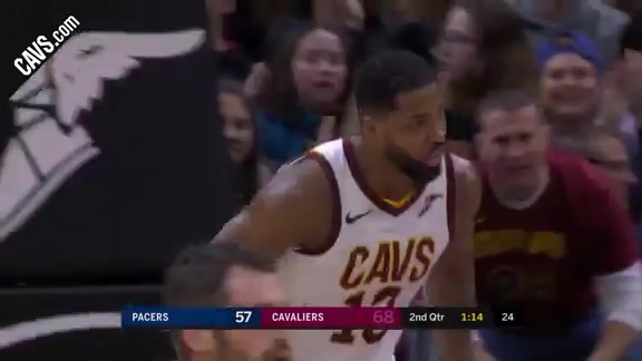 LBJ Throws Alley-Opp to T.T.