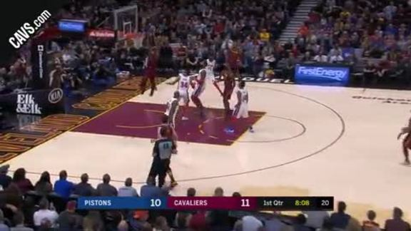 Featured Highlight: LeBron Tosses Oop to Tristan