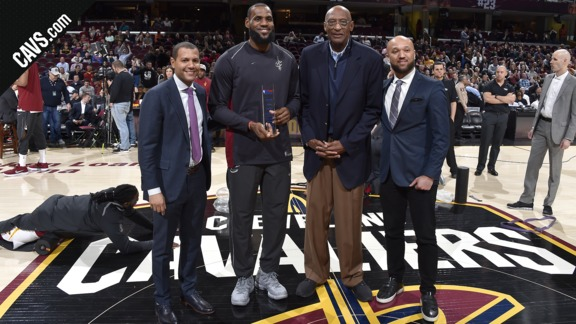 LBJ Honored for NBA Cares Community Assist Award