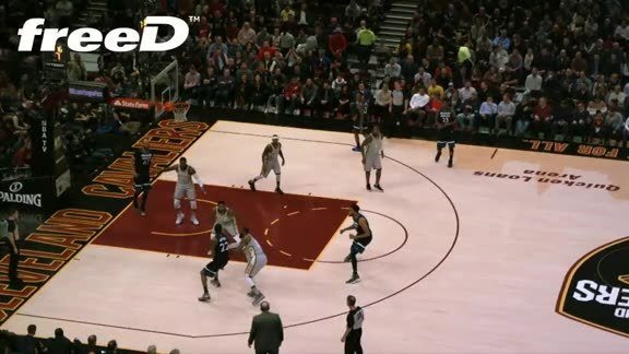 Highlight in freeD: LBJ Steals One