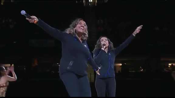 Kathy Sledge Performs Hit Song at Halftime