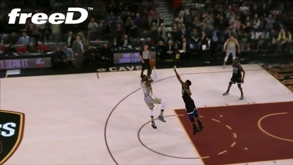 Highlight in freeD: LBJ's Buzzer Beater