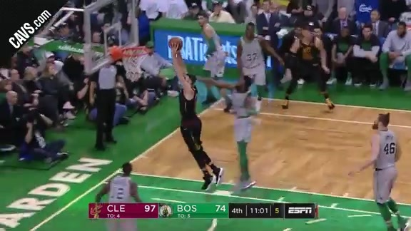 Larry Nance Jr. with the Dunk