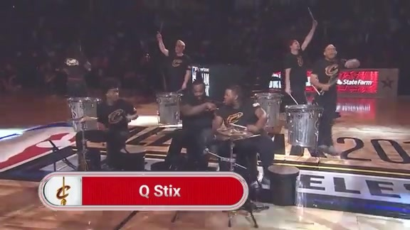 QStix Perform on All-Star Saturday