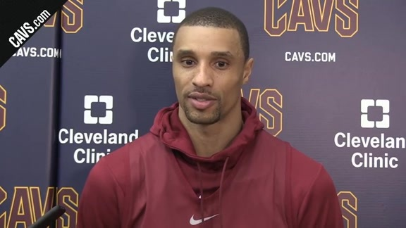 #CavsWizards Shootaround: George Hill-February 22, 2018