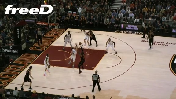 Highlight in freeD: LBJ Hits Jumper