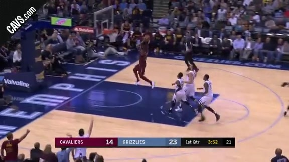 LBJ Soars for the Slam