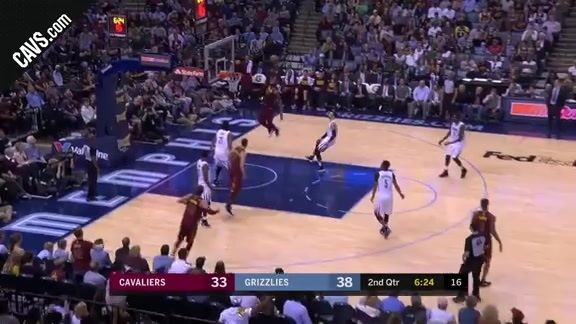 Jeff Green Dimes LBJ for the Dunk