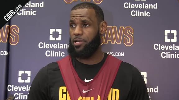 #CavsSixers Shootaround: LeBron James - March 1, 2018