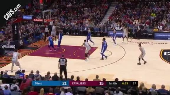 James Throws Down the One-Handed Jam