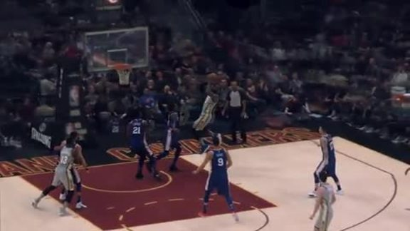 Intel True View: LBJ Earns And-One