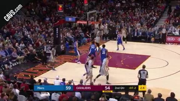 LBJ Slams It with just Seconds Left in Second Quarter