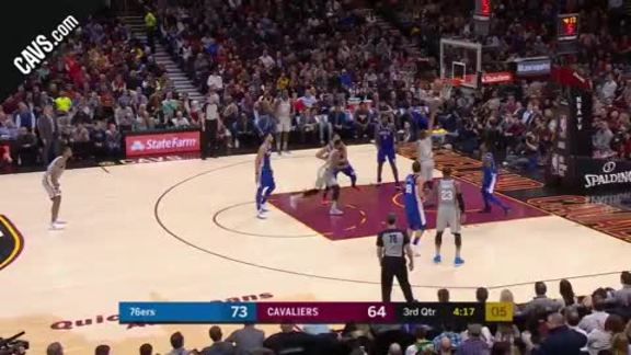 George Hill Euro-Steps All Over Philly