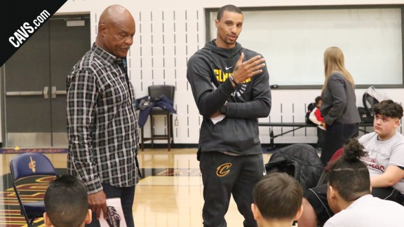 Cavs Have Conversations with Local Teens
