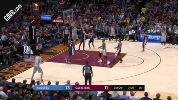 LBJ Connects with TT on Dunk