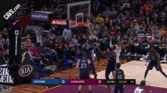 Nance Jr. Grabs the Put-Back Dunk