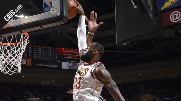 LBJ Hammers It