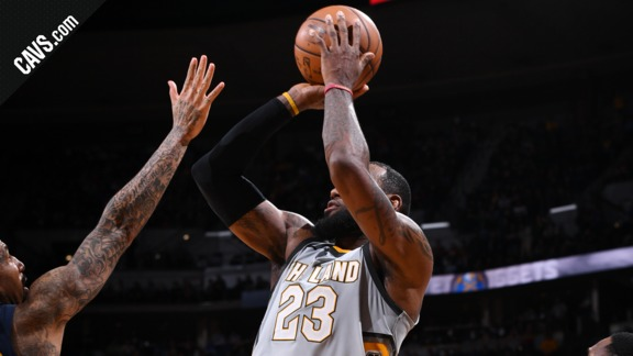 LBJ Hits Clutch Jumpers Down the Stretch