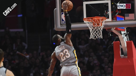 Featured Highlight: LeBron Rocks the Rim