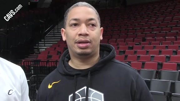 #CavsBlazers Shootaround: Coach Lue - March 15, 2018