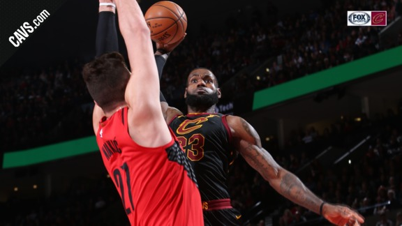 Featured Highlight: LBJ Puts Blazers on a Poster