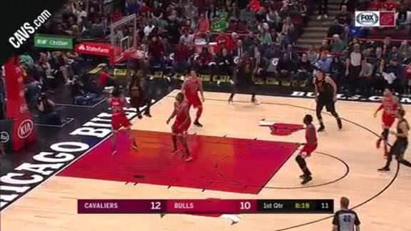 LBJ with the Alley-Oop Slam