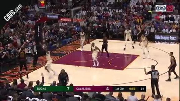 LBJ Finds Korver in the Corner