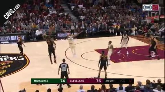 LBJ Knocks Beats the Shot Clock
