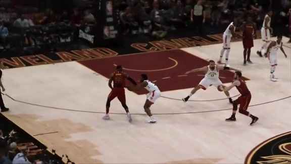 Intel True View: KLove Finds LBJ on the Backcut