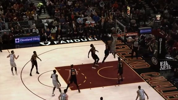 Intel True View: LBJ Snags the Alley-Oop