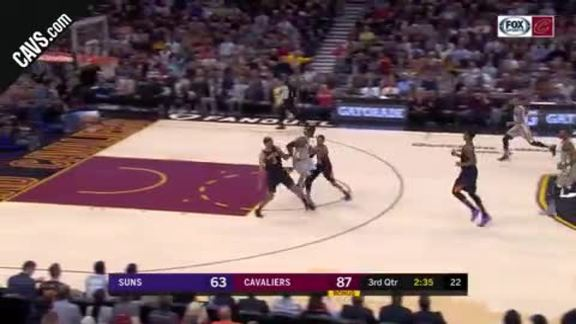 LBJ with the Spin, Hoop and the Harm